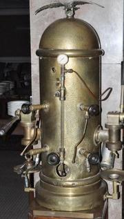An espresso machine from the Houston Club building will be one of many antique items sold on Jan. 12.