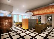 The lobby of the new club, on the 49th floor of One Shell Plaza, will display high-end finishes, saddle-colored wood sprinkled with modern metallics. Old Houston photos will be hung throughout the club to bring some of the city's history into the space.
