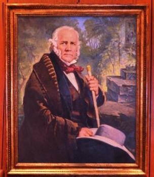 This portrait of Sam Houston is one of the notable items up for sale at the Houston Club Auction on Jan. 12.