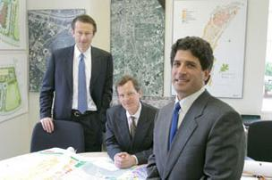 Partners Dan Dubrowski (left), Tom Bacon and Glenn Lowenstein formed Houston-based Lionstone Group in 2001. The Lionstone Group purchased Waterway I and II June 1.