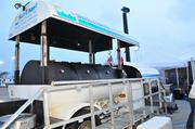 Sun Coast Resources Inc. transformed a former fuel tanker into a barbecue pit.