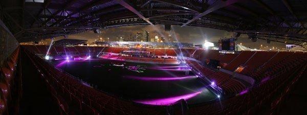 The BBVA Compass Stadium during Statoil's OTC party May 1.
