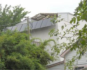 Solar panels on a residence on West 24th Street in Houston