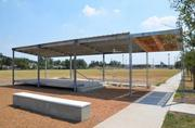 The Solar Shade Tree at Houston Independent School District's McReynold's Middle School was designed by students at the University of Houston School of Architecture.
