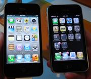 The iPhone 4S is on the left, Diana McKinney's iPhone 3 on the right.