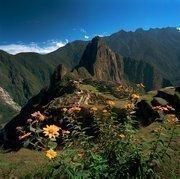 The ancient Inca city of Machu Pichu in Peru