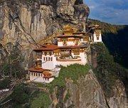 The Tiger's Nest Monastery near Paro, in the Himalayan Buddhist kingdom of Buhtan