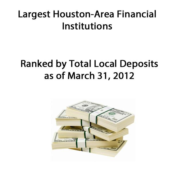 Click through the slideshow to see the top five companies on the Largest Houston-Area Financial Institutions list.