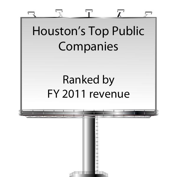 Click through for the top 10 companies on the list of Houston's Top 100 Public Companies.