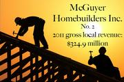 The Houston Business Journal ranked McGuyer Homebuilders for its growth in the Houston market. The company is also being honored for its commitment for sustainability.