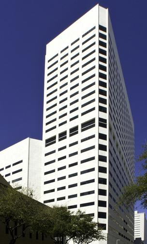 The downtown Houston building at 1301 Fannin has been placed up for sale.