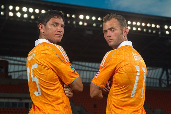 Brian Ching (left) and Brad Davis had two of the top 25 best-selling jerseys in the MLS. Click through the slideshow to see the players with the top five selling jerseys.