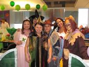 Entrust Energy in Houston had a duos- and groups-themed Halloween party. The Wizard of Oz group includes, from left, Lisa Ramey (Glinda, the Good Witch of the North), Erika Vazquez (Wicked Witch of the West), Samantha Nguyen (Tin Lady), Raul Torres (Scarecrow), Sandra Gaytan (Dorothy) and Michelle Kristoff (Cowardly Lioness).