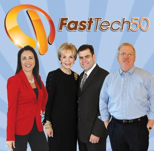 From left: Marie Guillot, CEO of Abaco International; Leisa Holland-Nelson and Brian Gaubert, founders of ContentActive LLC; and Russel Treat, president of EnerSys Corp.