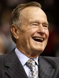 Former President George H.W. Bush was moved out of intensive care Saturday at a Houston hospital.