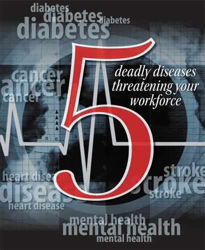 Click through for a slideshow of the five deadly diseases threatening your workforce. The Health Care Report, available to Houston Business Journal subscribers, published June 29.