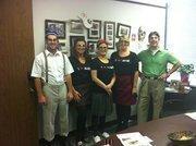 Image Custom Engineering Solutions LLC in HoustonNerds (from left): Kyle Isgar, Samantha Thrasher, Kelly Gonzales, Cheryl Petrovich and David Conley