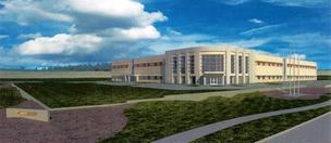 A rendering of the new R&D and manufacturing facility to be built in Pearland by Merit Medical Systems Inc.