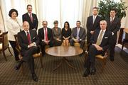 The wealth advisory team at Northern Trust, which was selected as exemplary for risk management.From left, Karene Arkaifie,Colter Lewis,Michael McDuffie,Gary Reese, Janet Hill, Kristen Andreasen, Stephen Barber,Steve Schaller,Jeff Early andJeff Horner.