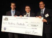 Medtric Biotech LLC of Indiana-based Purdue University took home the $15,000 second-place award presented by Finger Interests Ltd. at the 2012 Rice Business Plan Competition. The team has developed a compound used to reduce the risk of infection in the treatment of wounds.