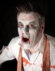 Schipul - The Web Marketing Co. says it's a tradition for the employees  to take zombie photos for Halloween. The company does a lot of event  photography for clients, so it's an opportunity for employees to put  their photography and Photoshop skills to work. Click here to see more zombie pictures from Schipul.