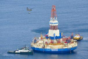 Shell had to tow its Kulluk oil rig in for inspection last month after its crash off the southern coast of Alaska.