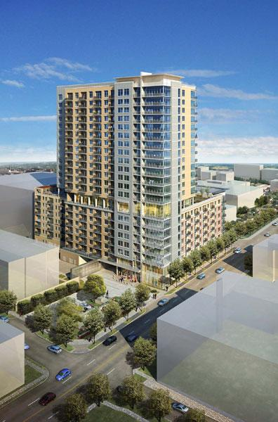 Although plans for Houston's Regent Square have been in the works since 2007, GIS Development broke ground on the first building, The Sovereign, on Aug. 14, reports say.