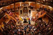 All the Disney characters and cast of the Walt Disney Theatre stage shows gather to say goodbye to passengers on the final night of every Disney Cruise Line voyage.