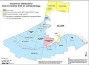 Revised Alaska Outer Continental Shelf Oil and Gas Strategy map