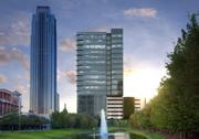 Shown in relation to the existing Williams Tower, the office building will cost $60 million to $90 million to develop.