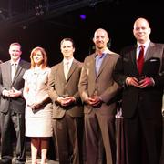 From left: Honorees Chris Myers, Amy Milstead, Sam McGee, Mike Mahlstedt and Colter Lewis.