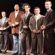From left: Honorees Edgar Saldivar, Kelsey Ruger, Henry Richardson, Marcus Pillion and Nic Phillips.
