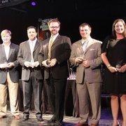 From left: Honorees Will Perry, Xavier Pena, Michael Pearce, Corbett Parker and Lauren Olenius.