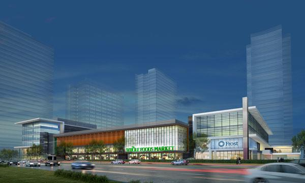 A Whole Foods Market and Frost Bank will anchor phase II of Blvd Place.