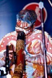 Australian Aboriginal performer and storyteller at Tiger Ball 2010.