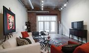 A look inside the modern, upscale living space in one of the City View Lofts apartments.