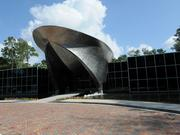 The Chipolbrok America headquarters was designed to resemble the bow of a ship and constructed with architectural titanium, with a bridge and cable rails mimicking naval elements.