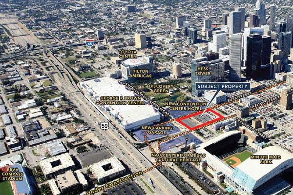 Houston First Corp. said Nov. 14 that it is selling a piece of property downtown for residential and retail development.