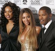 Jaime Foxx, right, seen in this file photo with Beyonce and Jennifer Hudson, will host an NBA All-Star Game party in Houston on Feb. 16.
