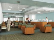 An interior rendering of the new Kelsey-Seybold Clinic at Meyerland Plaza.