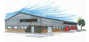 The new 14,000-square-foot Kimray office and distribution facility will have room to store and repair Kimray's products.