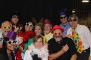 McCoy Workplace Solutions' carnival-themed Christmas party featured a photo booth, a caricature artist and many games and prizes. Pictured: (back row from left) Dan O'Dowd, Sharmeen Pirani, Laura Ali, Gene Nelson, Randy Eilts and Phil Kellen; (front row from left) Tania Hawthorne, Kirsten Glenn and Scott Lengyel.