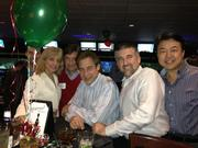 PBK held its Christmas party at Bowl 300. Pictured from left: Chris Cunico, Donna Range, Roy Montalbano, Dan Boggio, Todd Spore and Richard Chi.
