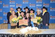 The 2012 Grand Champion Pen of Broilers sold for $130,000.