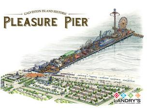 A rendering of the completed Pleasure Pier, which is scheduled to open in May 2012.