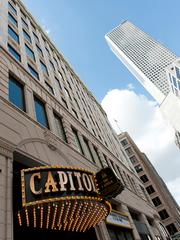 The Capitol at St. Germain is a new downtown destination with a 1920's-inspired marquee signage and live entertainment.