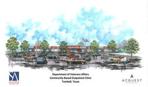 A rendering of the Michael E. DeBakey VA Medical Center's future Tomball clinic.