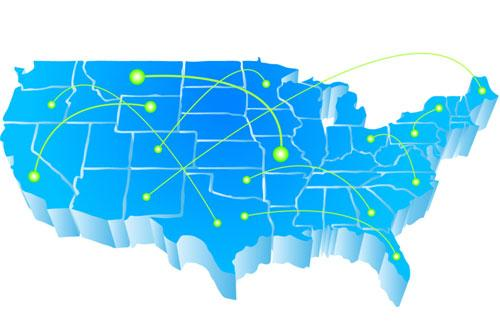 Click through for a slideshow of the top 10 moving destinations on the American Moving and Storage Association's list, plus their average rents based on ApartmentRatings.com data.
