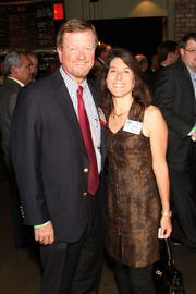 From left: Mark Simmons of Comerica Bank and Deborah Simmons.