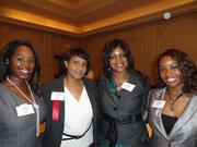 From left: Roshanda Hosch of The Lyra Group, Mia Brown of Strategic Financial Group, Tyra Franklin of The Lyra Group and Roshonner Kelly of Merrill Lynch